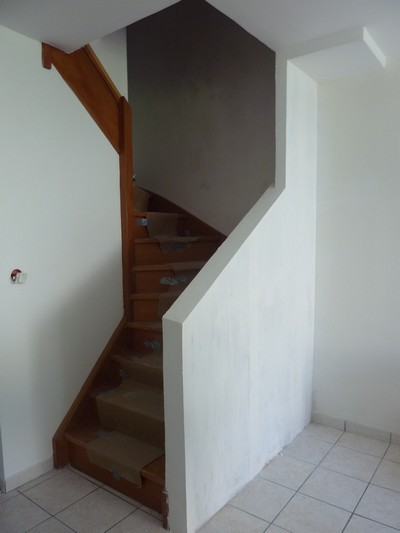 l avanc e des travaux cr ation d un garde corps pour l escalier f esmaison. Black Bedroom Furniture Sets. Home Design Ideas