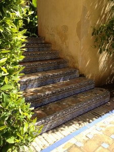 Alc zar de sevilla seville palais jardin spain escalier for Cuisine portugaise jardin