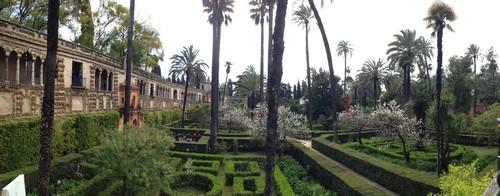 Alcázar_de_Sevilla-Seville-Palais-Jardin-Spain-panoramique