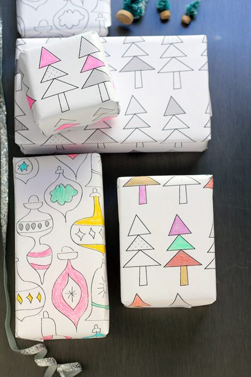 Free-printable-color-on-wrapping-paper-christmas-DIY-craft-Noel