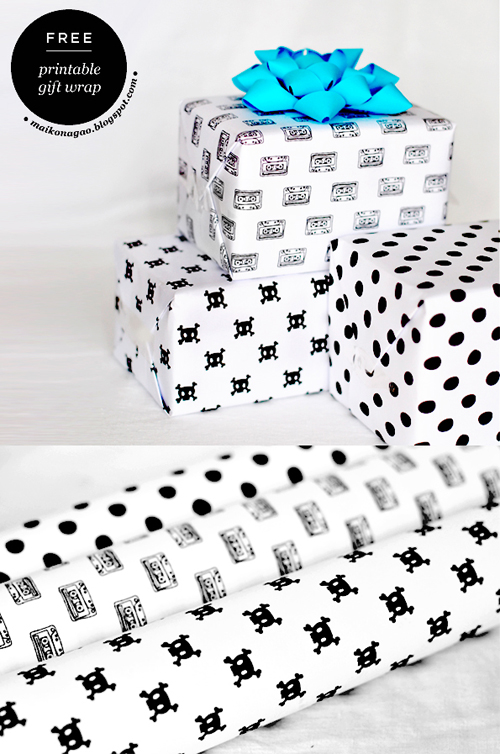 FREE! Printable wrapping paper