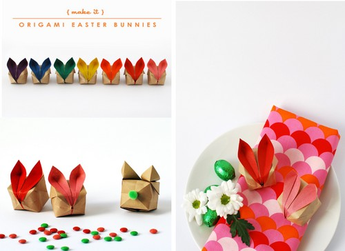 DIY-Origami-easter-bunnies-rabbit-lapin-Paques-Ostern-Pascua