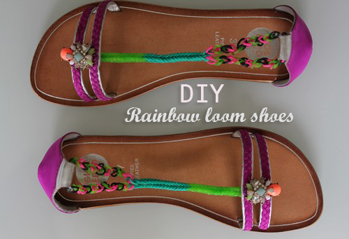 DIY-Shoes-Rainbowloom-Zalando-chaussures-GIOS_EPPO_Girl-Summer-elastique-crochet-tuto-mothersday