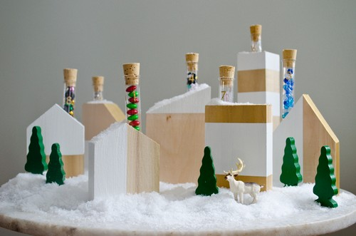 Wood-Advent-Calendar-Village-DIY